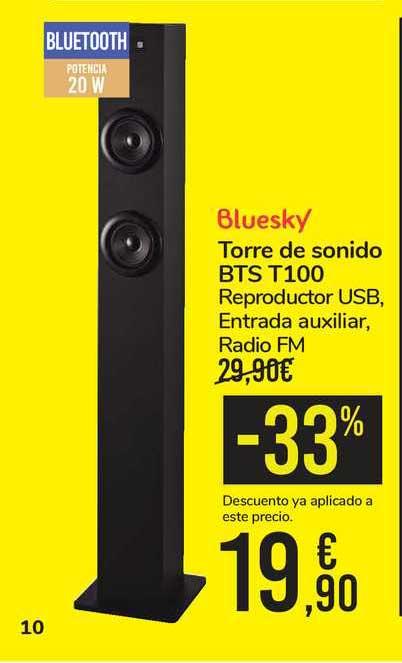 Carrefour -33 Bluesky Torre De Sonido Bts T100