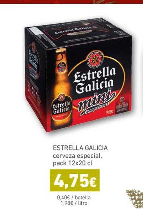 HiperDino Estrella Galicia Cerveza Especial, Pack 12x20 Cl