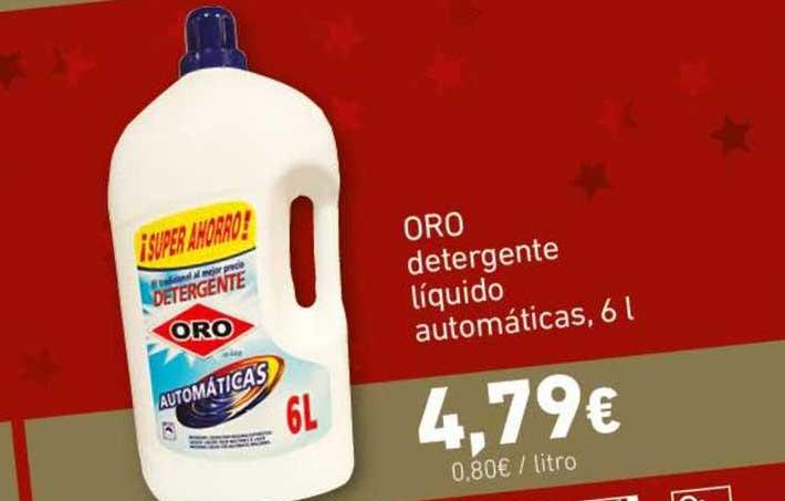 HiperDino Oro Detergente Líquido Automáticas, 6 L