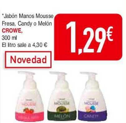 Masymas Jabón Manos Mousse Fresa Candy O Melón Crowe