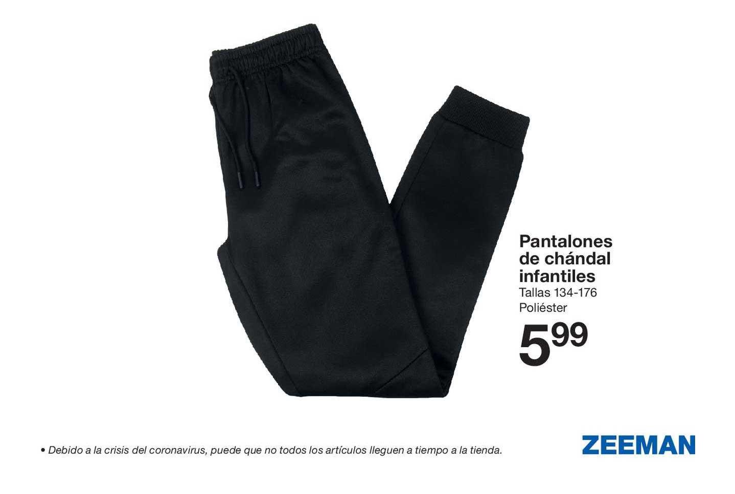 Oferta Pantalones De Chandal Infantiles En Zeeman