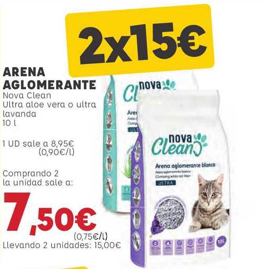 Kiwoko Arena Aglomerante Nova Clean Ultra Aloe Vera Vera O Ultra Lavanda 10l