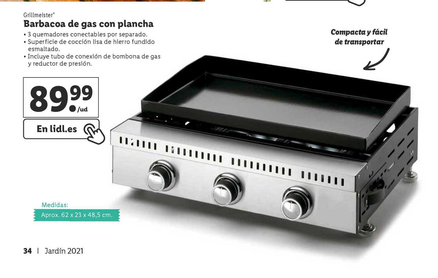 LIDL Grillmeister Barbacoa De Gas Con Plancha