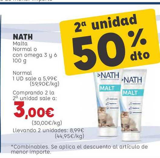 Kiwoko Nath Malta Normal O Con Omega 3 Y 6 100g