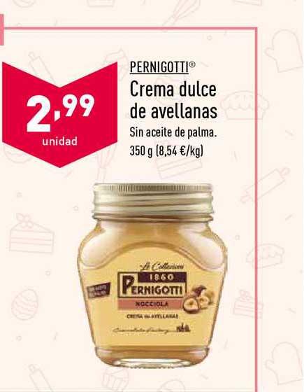 ALDI Pernigotti Crema Dulce De Avellanas