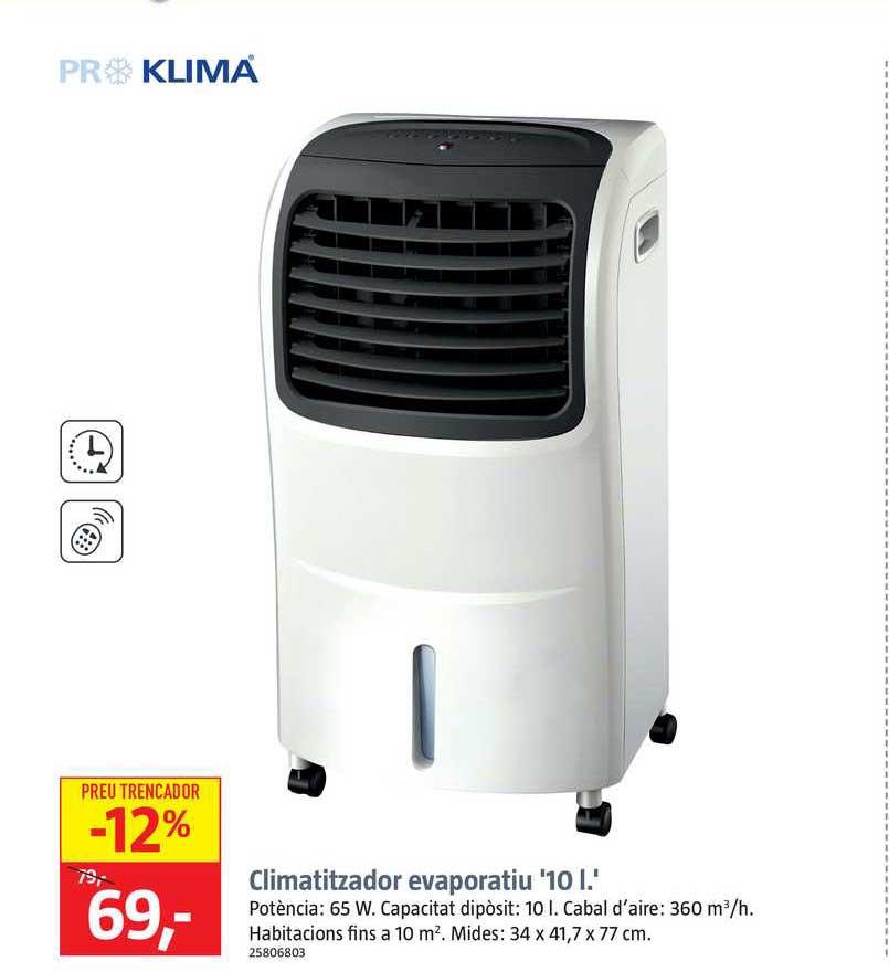 BAUHAUS Proklima Climatizador Evaporatiu 10 L