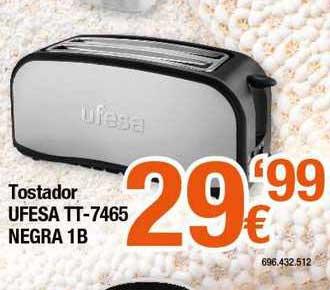 Expert Tostador Ufesa Tt - 7465 Negra 1b