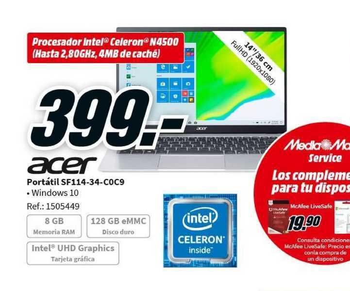 MediaMarkt Acer Portátil Sf114-34-coc9