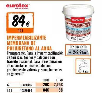 Bricomart Impermeabilizante Membrana De Poliuretano Al Agua