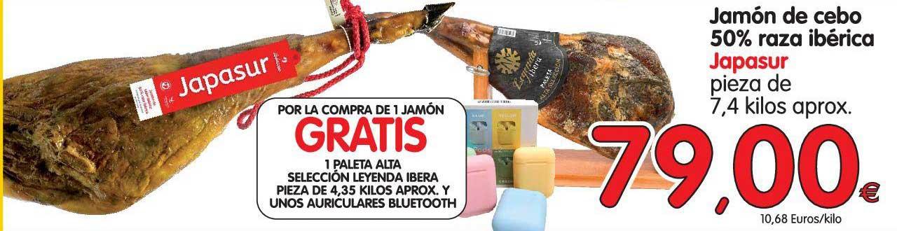 Alimerka Jamón De Cebo 50% Raza Ibérica Japasur Pieza De 7,4 Kilos Aprox.