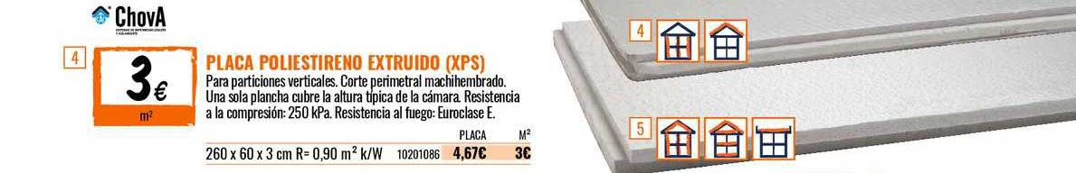 Bricomart Placa Poliestireno Extruido (XPS)