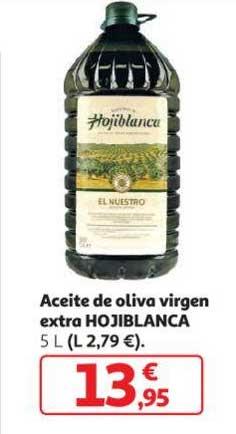 Alcampo Aceite De Oliva Virgen Extra HOJIBLANCA 5 L