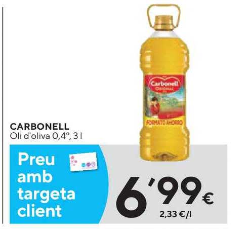 Caprabo Carbonell Oli D'oliva 0.4°, 3l