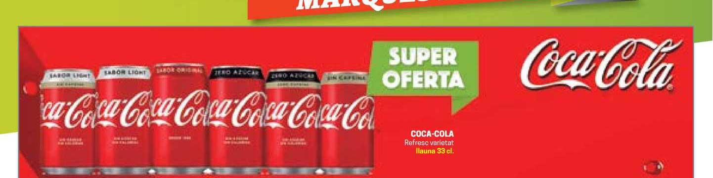 Gros Mercat Coca-Cola Refresc Varietat Llauna 33 Cl