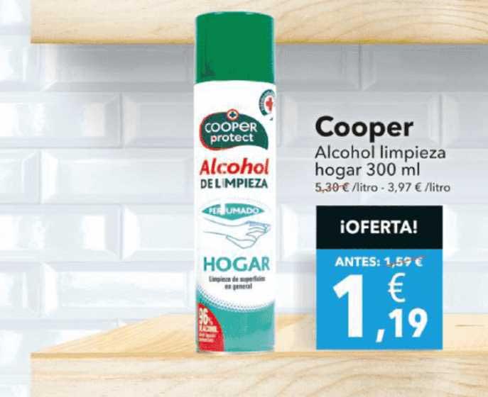 Clarel Cooper Alcohol Limpieza Hogar 300 Ml