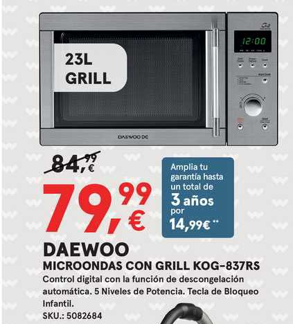 Worten DAEWOO Microondas Con Grill KOG-837RS