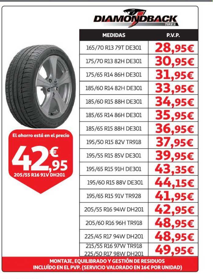 Alcampo Diamondback Tires