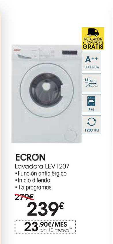 EROSKI Ecron Lavadora LEV1207