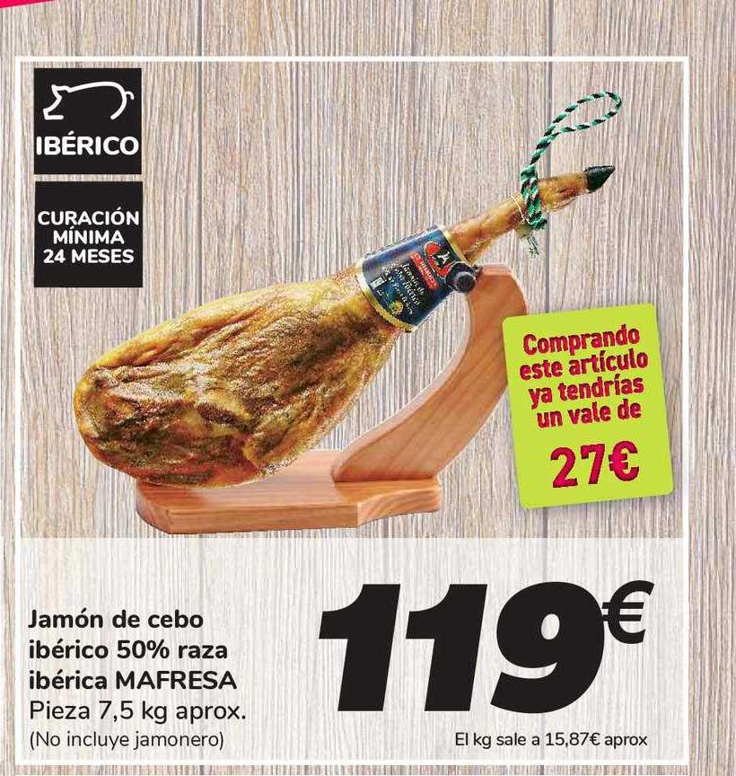 Carrefour Jamón De Cebo Ibérico 50% Raza Ibérica Mafresa