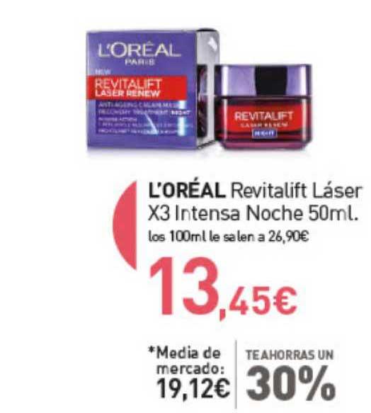 Primaprix L'Oréal Revitalift Láser X3 Intensa Noche 50ml