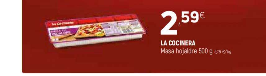 Coviran LA COCINERA Masa Hojaldre 500 G