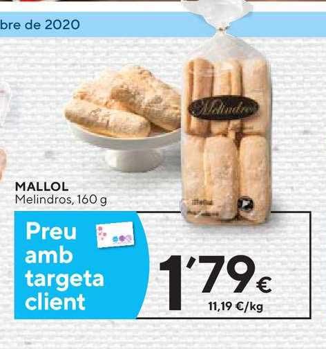 Caprabo Mallol Melindros, 160 G
