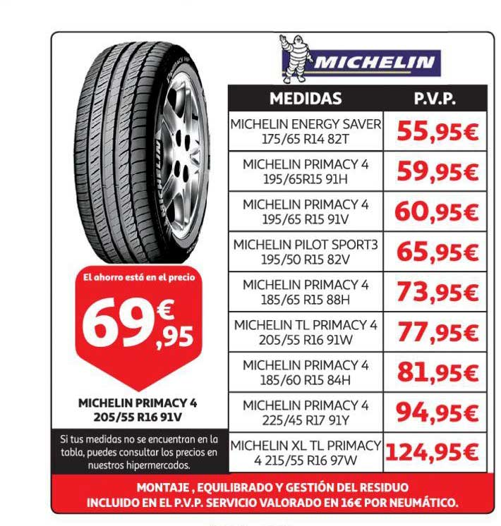 Alcampo Michelin Primacy 4 205 ∕ 55 R16 91V
