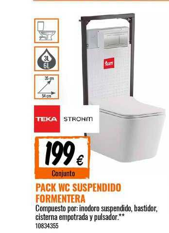 Bricomart Pack WC Suspendido Formentera