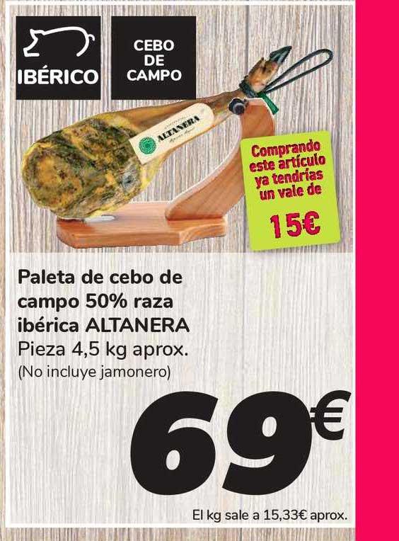 Carrefour Paleta De Cebo De Campo 50% Raza Ibérica Altanera
