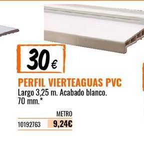 Bricomart Perfil Vierteaguas PVC