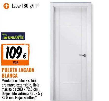 Bricomart Puerta Lacada Blanca