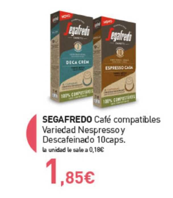 Primaprix Segafredo Café Compatibles Variedad Nespresso Y Descafeinado 10 Caps.