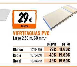 Bricomart Vierteaguas PVC