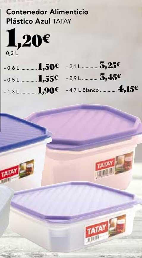 Gadis Contenedor Alimenticio Plástico Azul Tatay