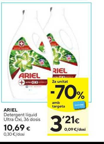 Caprabo 2ª Unitat -70% Amb Targeta Ariel Detergent Líquid Ultra Oxi, 36 Dosis