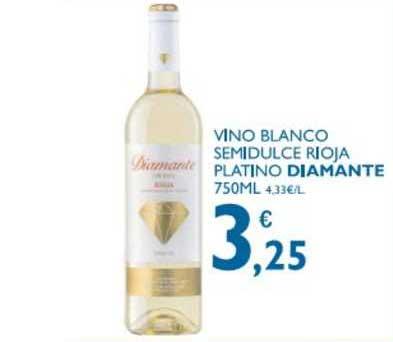 Supermercados La Despensa Vino Blanco Semidulce Rioja Platino Diamante 750 Ml