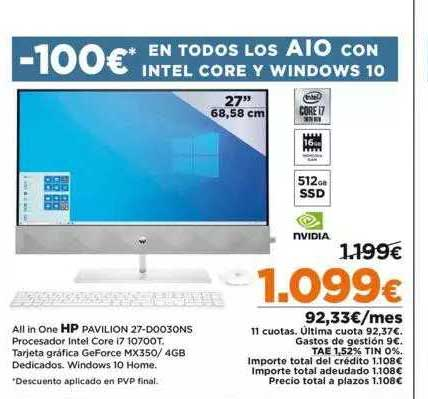 Fotoprix All In One HP Pavilion 27-D0030NS