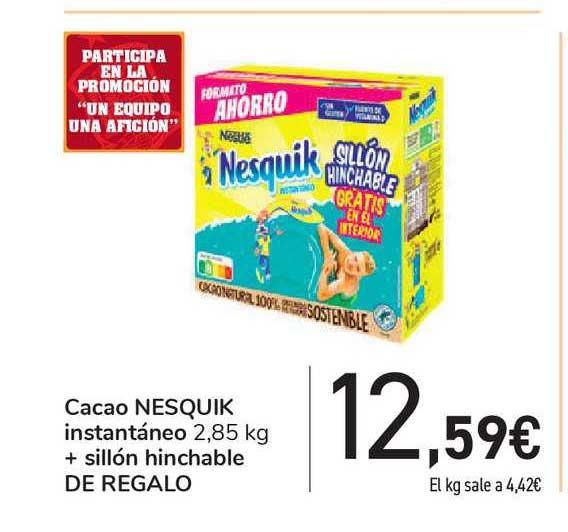 Carrefour Cacao Nesquik Instantáneo + Sillón Hinchable De Regalo