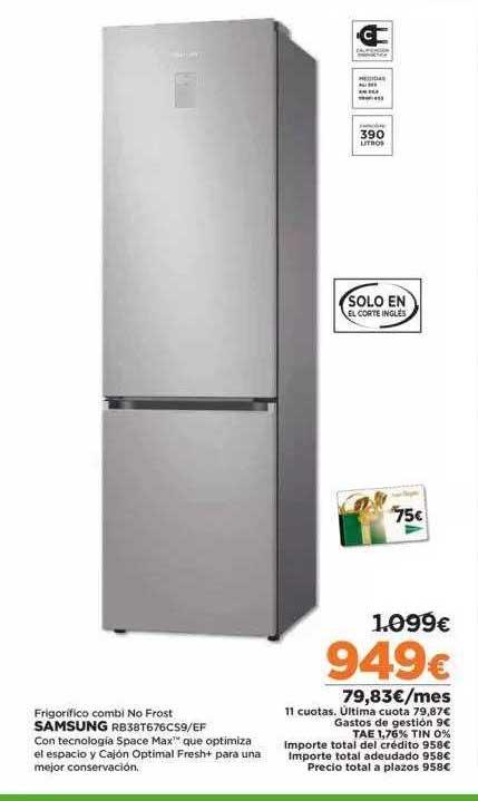 Fotoprix Frigorifico Combi No Frost Samsung RB38T676CS9-EF