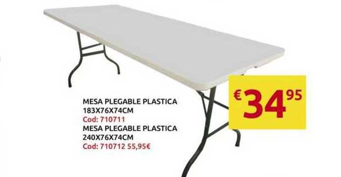 King Hogar Mesa Plegable Plastica