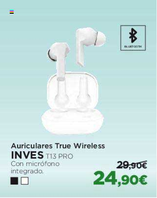 El Corte Inglés Auriculares True Wireless INVES T13 PRO