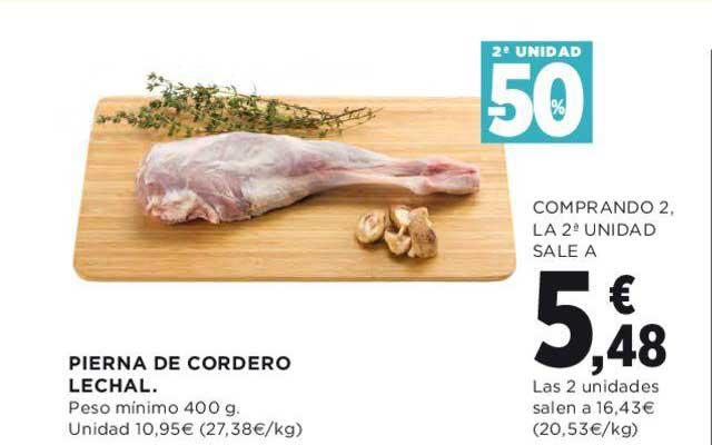 Hipercor 2ª Unidad -50% Pierna De Cordero Lechal