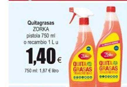 Froiz Quitagrasas ZORKA Pistola 750 Ml O Recambio 1 L
