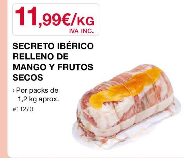 Costco Secreto Ibérico Relleno De Mango Y Frutos Secos