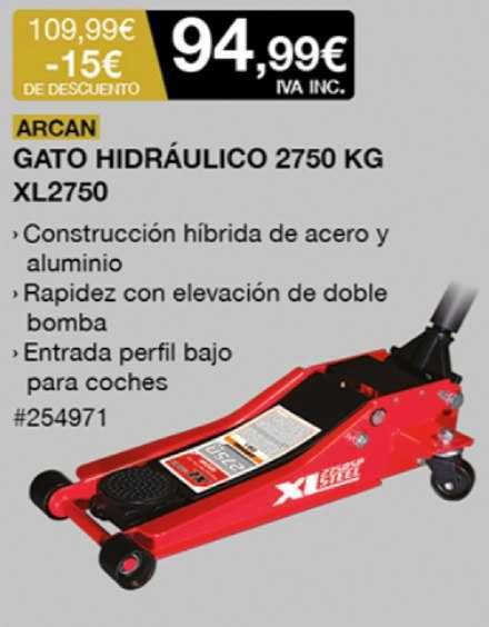 Costco -15€ De Descuento Arcan Gato Hidráulico 2750 Kg Xl2750
