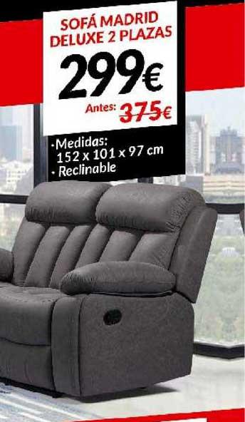Embargos A Lo Bestia Sofá Madrid Deluxe 2 Plazas