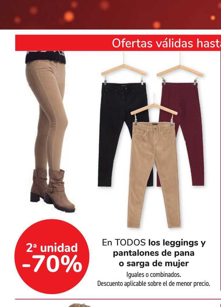 Oferta 2ª Unidad 70 En Todos Los Leggings Y Pantalones De Pana O Sarga De Mujer En Carrefour
