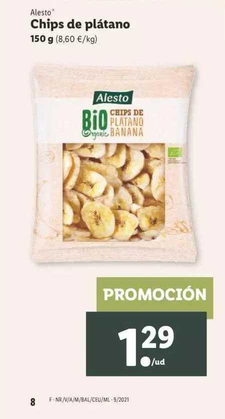 LIDL Alesto Chips De Plátano 150g