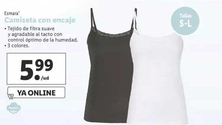 LIDL Esmara Camiseta Con Encaje