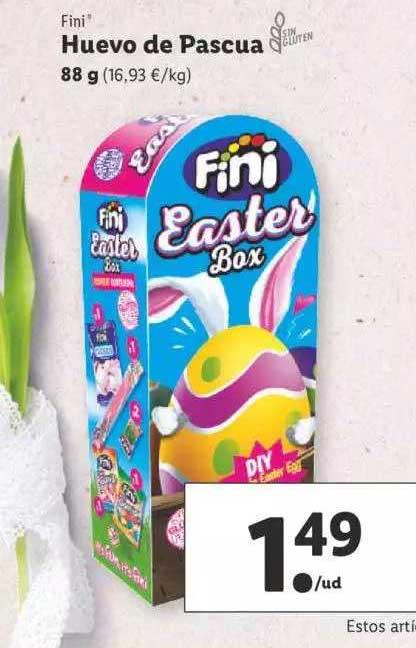 LIDL Fini Huevo De Pascua 88 G